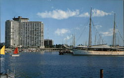 Ilikai Hotel Seen From Ala Moana Yacht Harbor