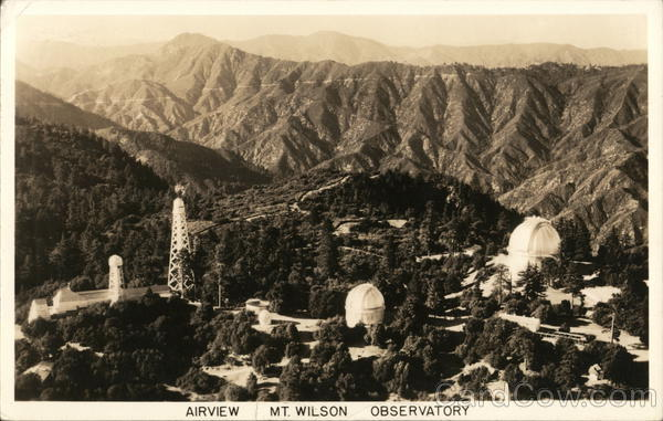 Airview Mt. Wilson Observatory Los Angeles California