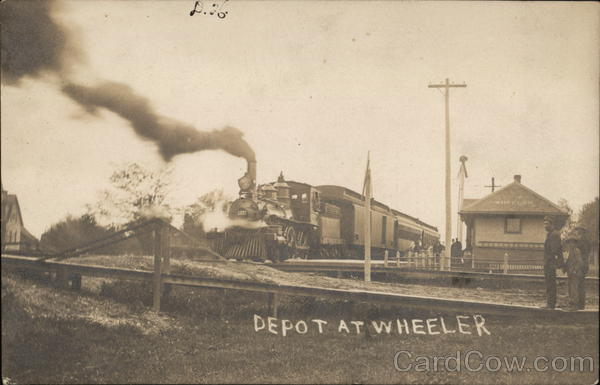 Railway Depot Wheeler Illinois Depots