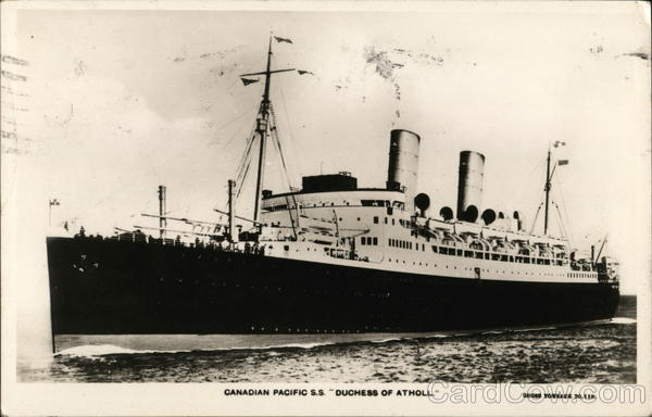 Canadian Pacific S.S. Duchess of Atholl Steamers
