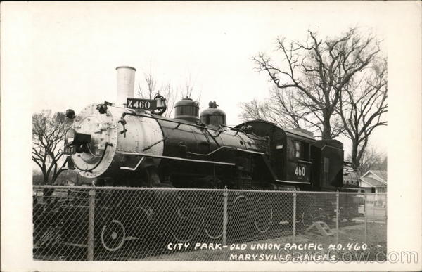 City Park-Old Union Pacific Marysville Kansas Locomotives