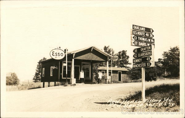 Red House Esso Filling Station Redhouse Maryland