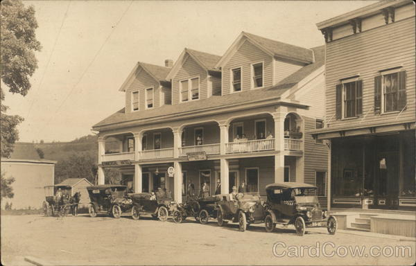 The Commercial Hotel, Auto Club Richmondville New York