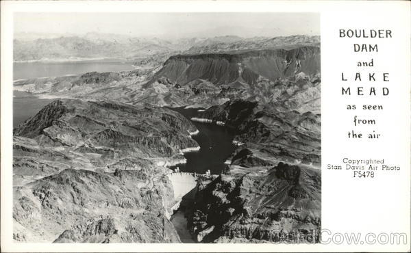 Boulder Dam and Lake Mead As Seen From the Air Nevada
