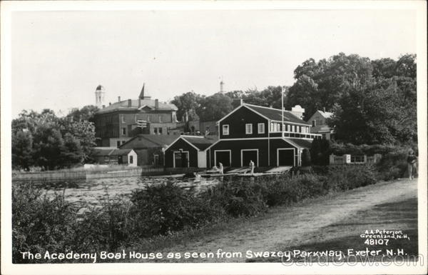 Academy Boat House seen from Swazey Parkway Exeter New Hampshire
