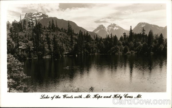 Lake of the Woods With Mt. Hope and Holy Cross Mountain Canada
