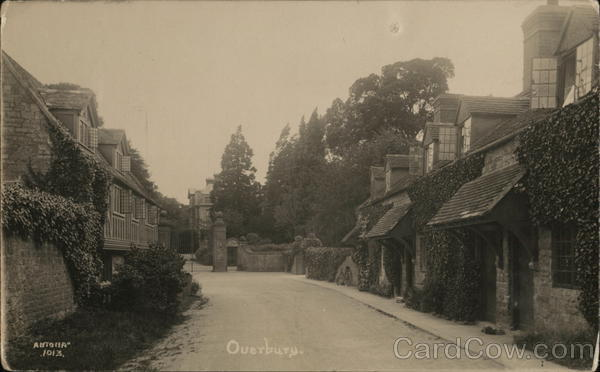 Street Scene with Cottages Overbury England
