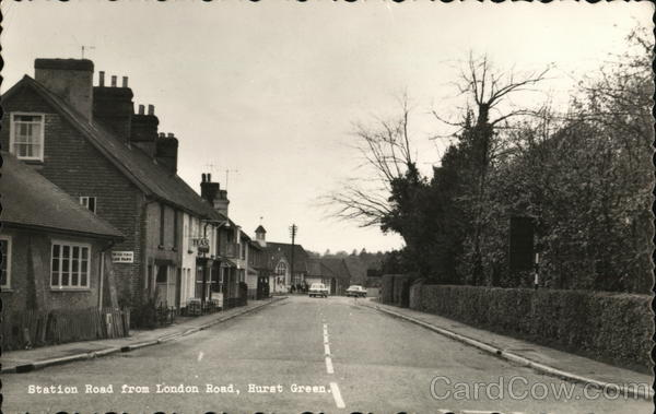 Station Road from London Road Hurst Green England Sussex