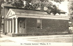 Country Lawyer Office Postcard