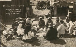 Indian Gambling Game Postcard