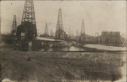 Field of Oil Wells