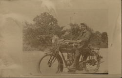 Young Man on Indian Motorcycle