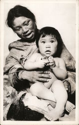 Eskimo Mother and Baby Postcard