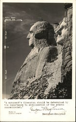Mount Rushmore - During Construction