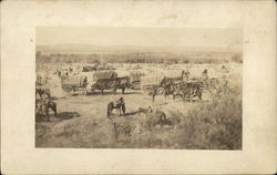 View of Covered Wagon Train