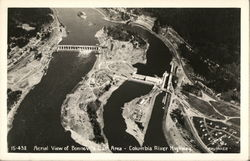 Aerial View of Bonneville Dam, Columbia River Highway