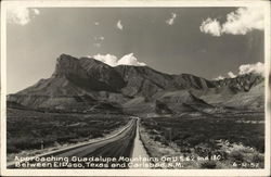 Approaching Guadalupe Mountains on US 62 and 180