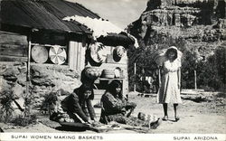 Supai Women Making Baskets