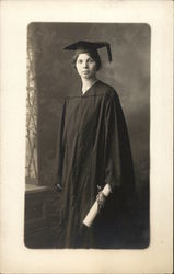 Woman in Cap & Gown