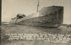 First Pacific Coast Torpedoed Ship