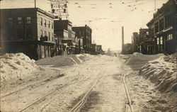 Snow Covered Town Street 1917-1918