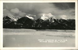Mount Harding in Winter, MIssion Range Mountains