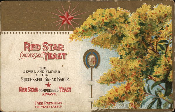 Red Star Compressed Yeast Ad Advertising