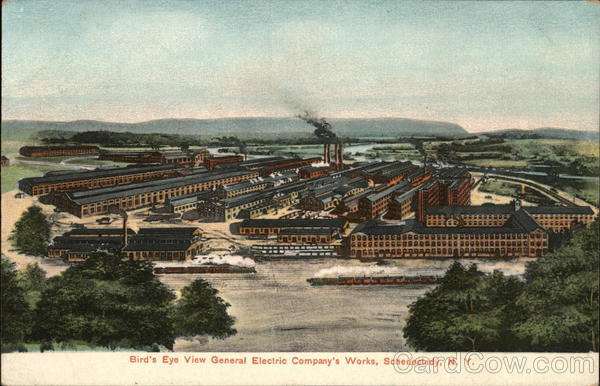Bird's Eye View General Electric Company's Works Schenectady New York
