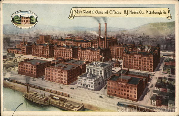 Main Plant & General Offices H.J. Heinz Co. Pittsburgh Pennsylvania