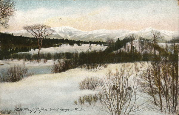 Presidential Range in Winter White Mountains New Hampshire