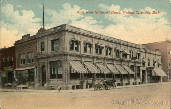 American National Bank Valley City, ND Postcard