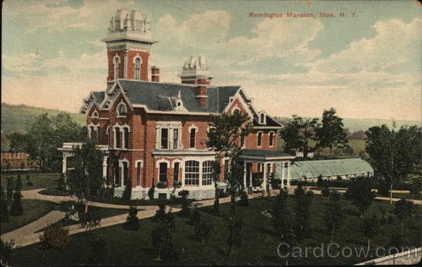 Remington Mansion Ilion, NY Postcard
