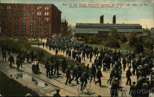 General Electric Company - Employees Leaving Works and Office Schenectady New York