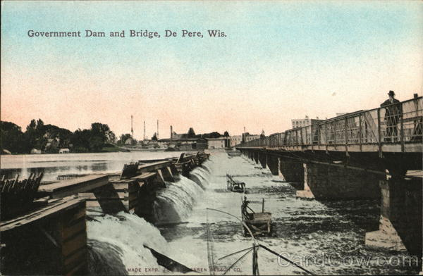 Government Dam and Bridge De Pere Wisconsin