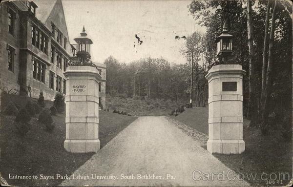 Entrance to Sayre Park, Lehigh University Bethlehem Pennsylvania