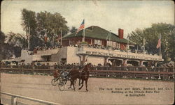Race Track and Sears, Roebuck and Co.'s Building at Illinois State Fair