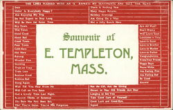 Souvenir of E. Templeton Postcard