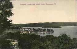 Prospect House and Island Postcard