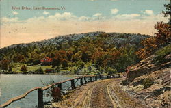 View of West Drive Postcard