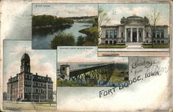 Greetings from Fort Dodge Postcard