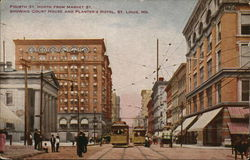 Fourth St. North from Market St. Postcard