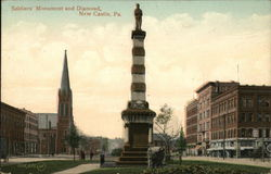 Soldiers' Monument and Diamond Postcard