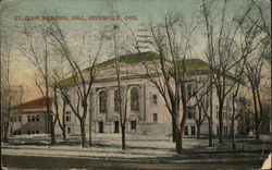 St. Clair Memorial Hall Greenville, OH Postcard