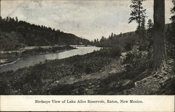 Birdseye View of Lake Alice Reservoir Postcard