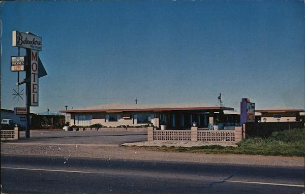 Belvedere Motel Red Bluff California L. E. lindholm