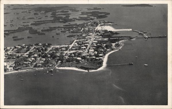 Aerial View Cedar Key Florida