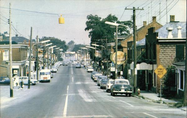 Main Street Looking West Grimsby Canada Ontario