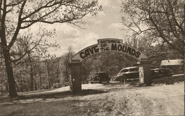 Entrance Arch to Cave of the Mounds Blue Mounds Wisconsin
