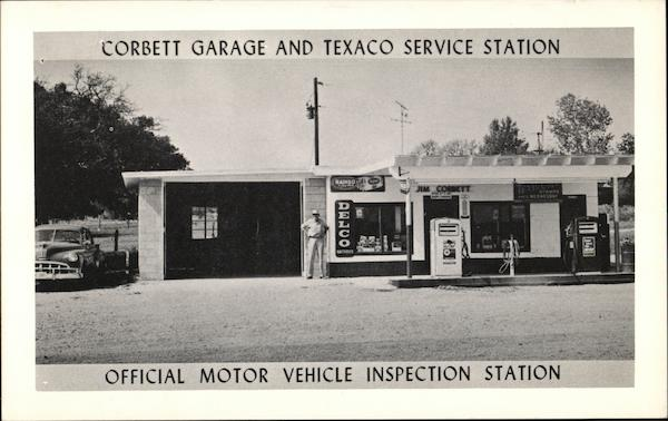 Corbett Garage and Texaco Service Station - Official Motor Vehicle Inspection Station Texas