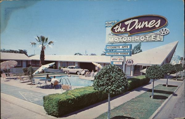 The Dunes Motor Hotel Phoenix Az Postcard